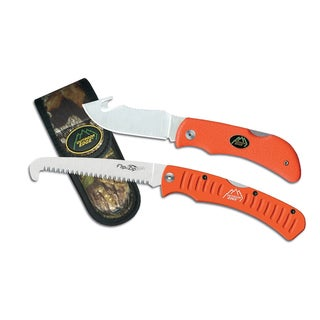 Outdoor Edge Orange Handles Combo Grip Knife
