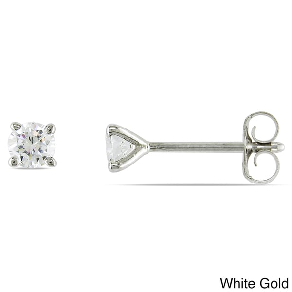 Miadora 14k Gold 1/4ct TDW Certified Diamond Earrings