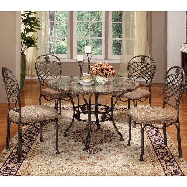 Hera Brown 5 Piece Modern Dining Set   Free Shipping Today   Overstock.com    14929731
