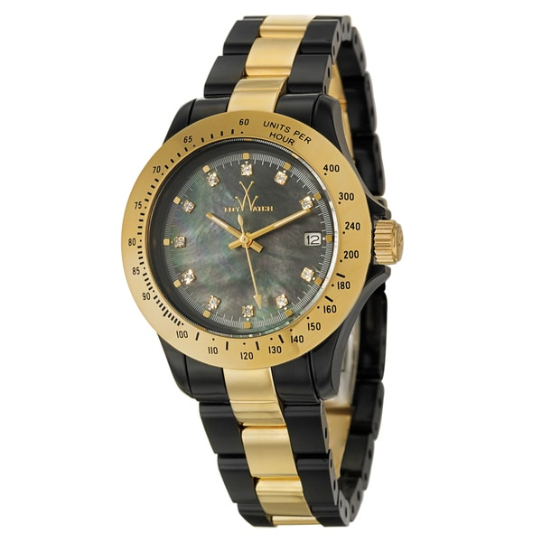 ToyWatch Women's Goldplated Steel and Plastic Tachymeter Watch