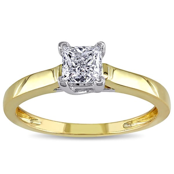 Miadora Signature Collection 14k Gold 3/4ct TDW Certified Diamond Solitaire Ring