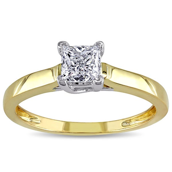 Miadora Signature Collection 14k Gold 3/4ct TDW Certified Diamond Solitaire Ring (G-H, I1-I2)