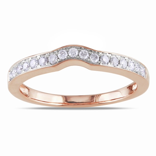 Miadora 14k Rose Gold 1/4ct TDW Diamond Wedding Band (G-H, I1-I2)
