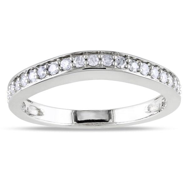 Miadora 14k Gold 1/3ct TDW Diamond Wedding Band