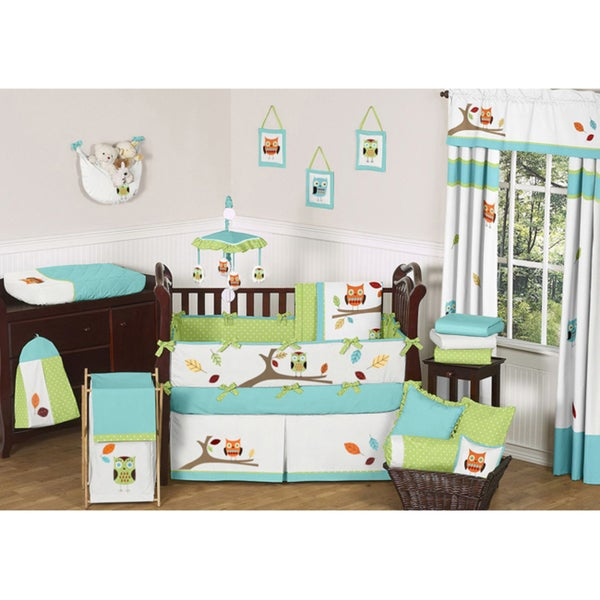Sweet JoJo Designs Hooty 9-piece Crib Bedding Set