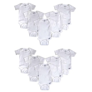 Gerber White Cotton One-pieces (Pack of 10)