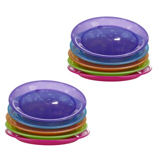 Munchkin Fish Design Multi-colored Plates (Pack of 10)