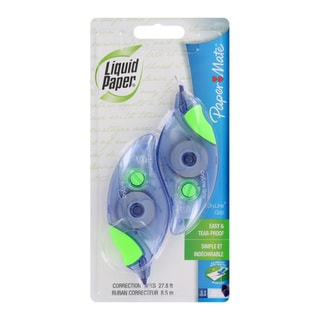 Paper Mate Liquid Paper DryLine White Grip Correction Tape (Pack of 4)