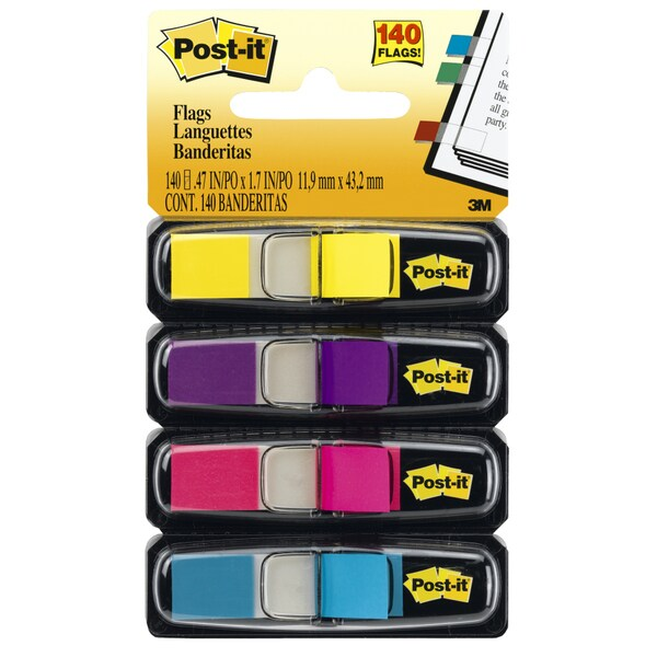 Assorted Colors 140-count Post-It Flags