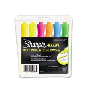 Sharpie Accent Chisel Tip Assorted Tank Highlighters (Set of 6)