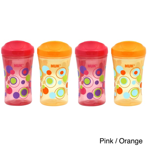 Gerber Graduates NUK Learning System Hard Spout 10-ounce Cups (Pack of 4)