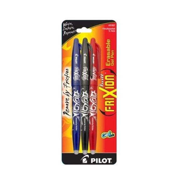 Pilot FriXion Fine Point 0.7 mm Erasable Gel Pens (Set of 3)