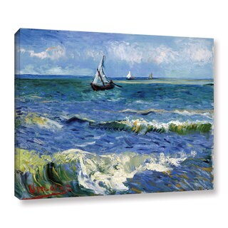 VanGogh 'Seascape At Saintes Maries' Wrapped Canvas Art - multi