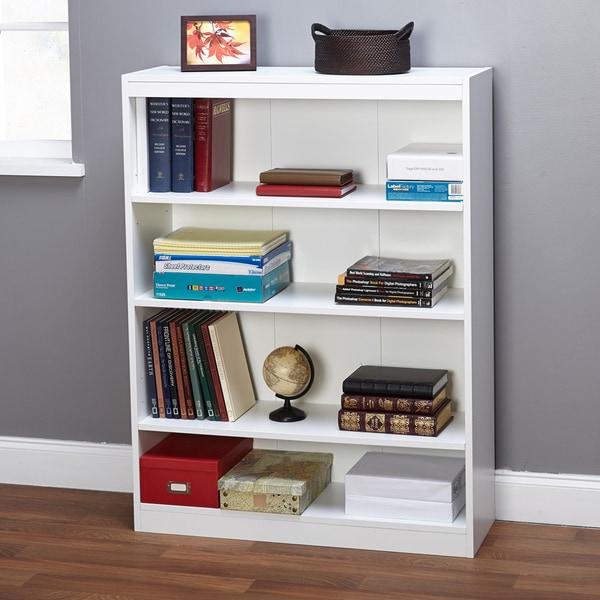 Shop Simple Living White Four Tier Bookcase