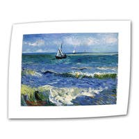 Traditional VanGogh 'Seascape At Saintes Maries' Wrapped-Canvas Art