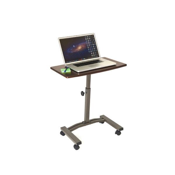 seville adjustable height mobile laptop cart desk free shipping today - Laptop Cart