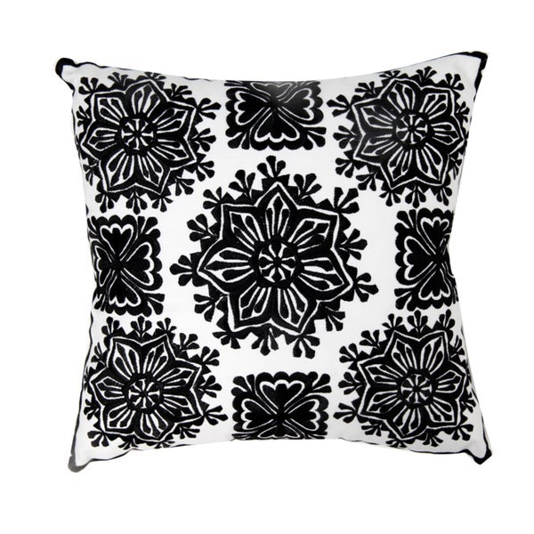Moroccan Embroidered Star Decorative Throw Pillow (Morocco)