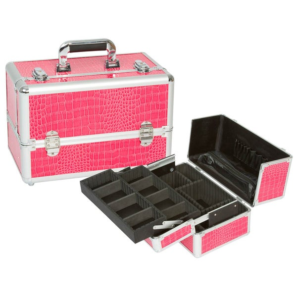 Seya Pink Gator Professional Makeup Case