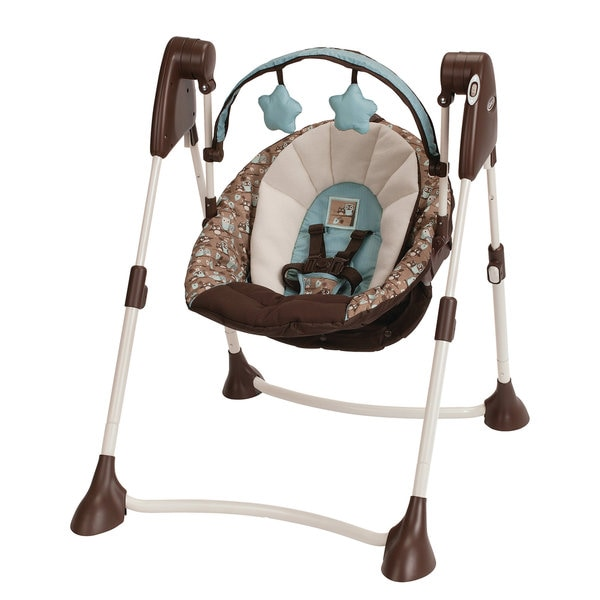 Graco Swing By Me 2-in-1 Portable Swing in Little Hoot