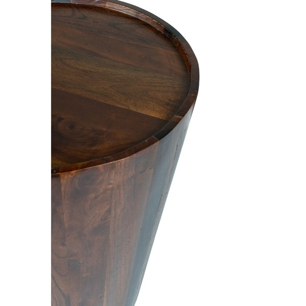 High Quality Hamshire Reclaimed Wood Barrel Side Table By Kosas Home   Free Shipping  Today   Overstock.com   14930052