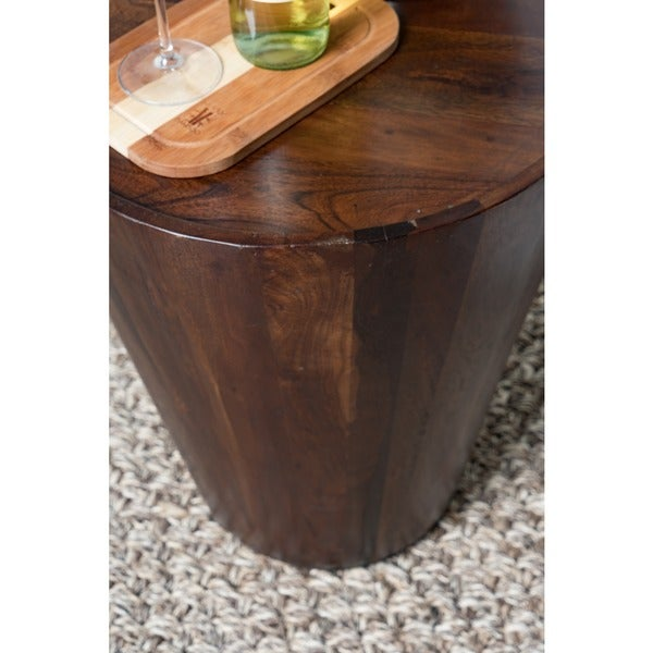 Awesome Hamshire Reclaimed Wood Barrel Side Table By Kosas Home   Free Shipping  Today   Overstock.com   14930052