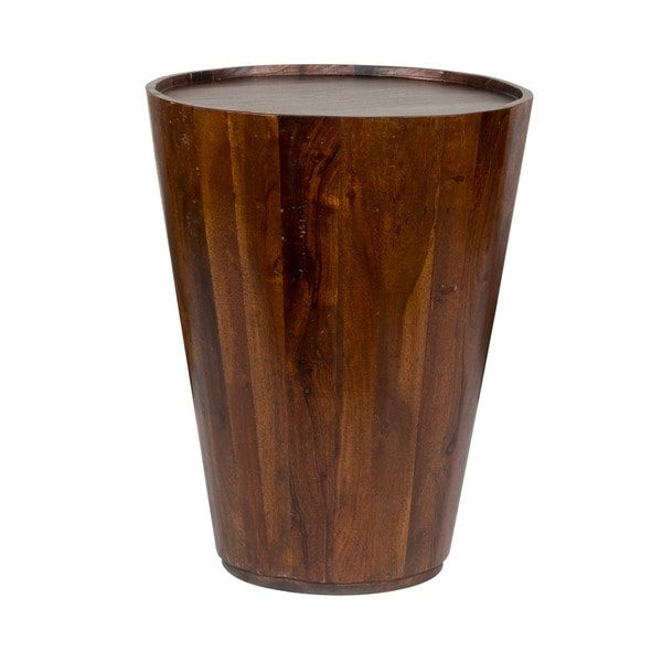 Hamshire Reclaimed Wood Barrel Side Table By Kosas Home   Free Shipping  Today   Overstock.com   14930052