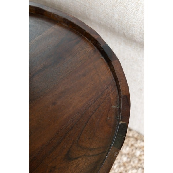 Marvelous Hamshire Reclaimed Wood Barrel Side Table By Kosas Home   Free Shipping  Today   Overstock.com   14930052