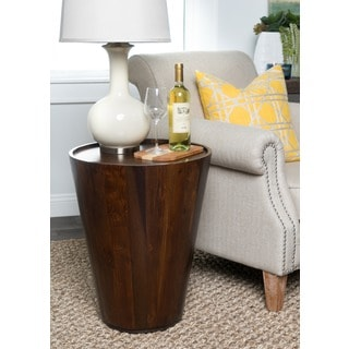 Hamshire Reclaimed Wood Barrel Side Table by Kosas Home