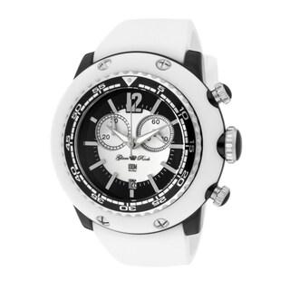 Glam Rock Women's 'Miami Beach' White Silicone Watch