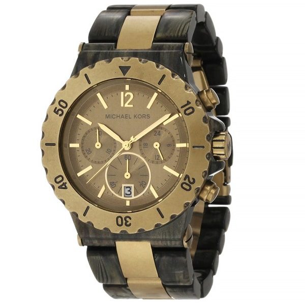 Michael Kors Women's MK5597 Dylan Gold Tone Ion Plated Steel And Acetate Watch
