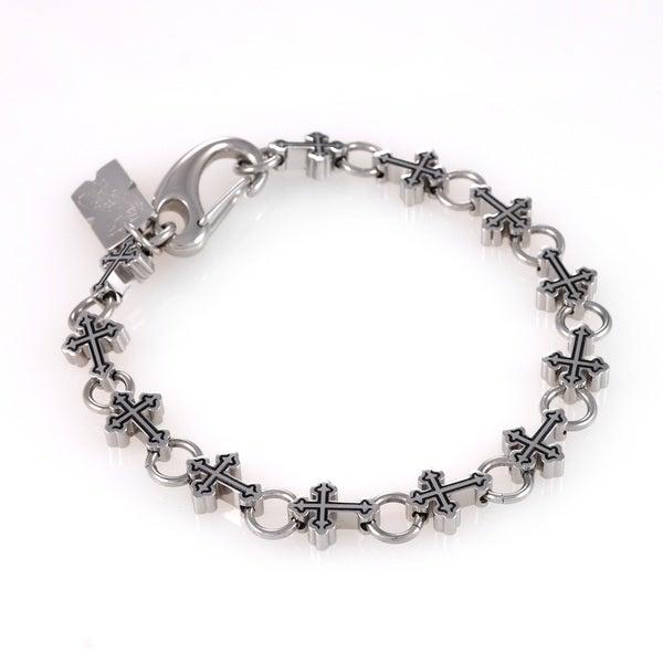 Stainless Steel Cross Link Bracelet