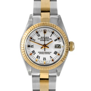 Pre-Owned Rolex Women's Two-Tone Stainless-Steel Datejust Watch