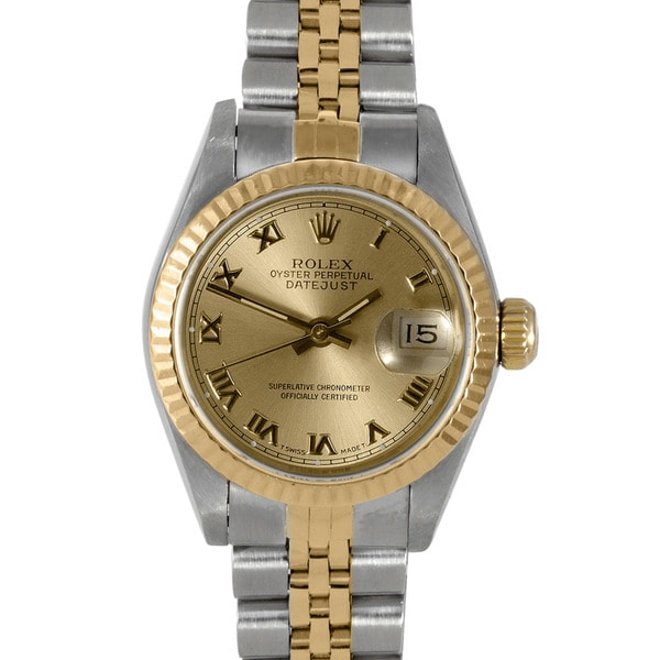 Pre-Owned Rolex Women's Two-Tone Datejust Watch with Automatic Movement