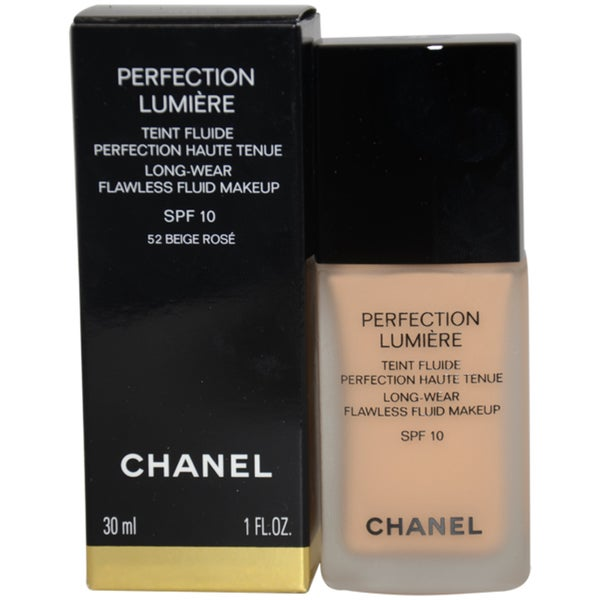Chanel Perfection Lumiere 052 Beige Rose Flawless Fluid Makeup