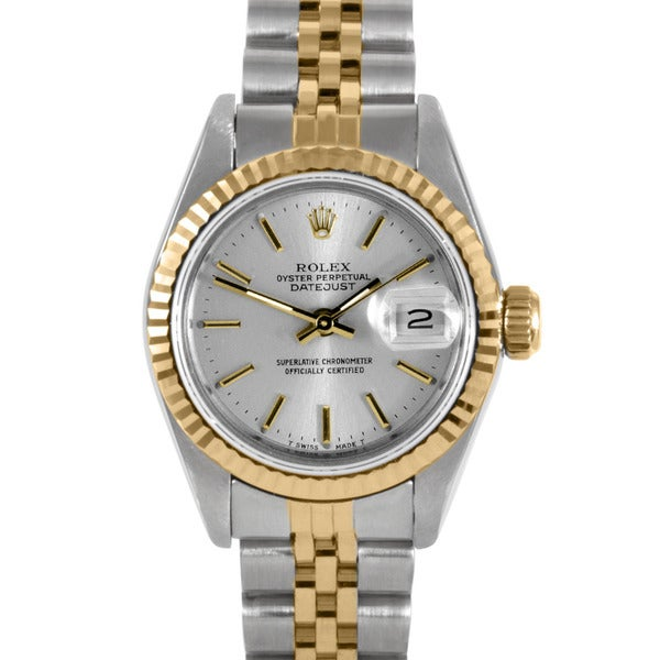 pre owned rolex s two tone datejust with gold