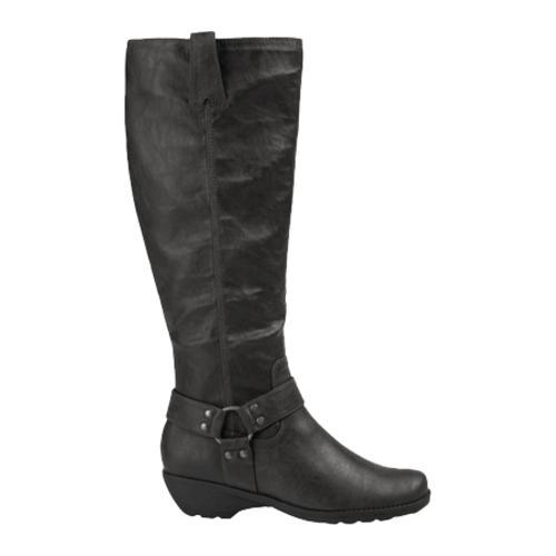Women's A2 by Aerosoles In An Instint Black Distressed Synthetic