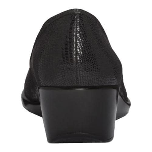 Women's A2 by Aerosoles System Black Lizard Fabric/Patent