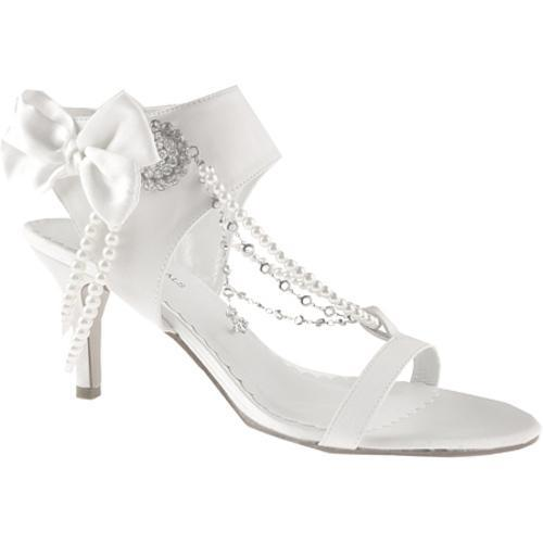 Women's Allure Bridals Fabulous Diamond White Silk Satin