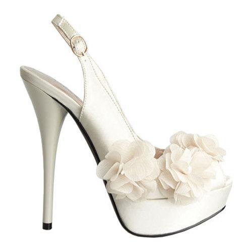 Women's Allure Bridals Glass Ivory Silk Satin - Thumbnail 1