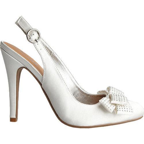 Women's Allure Bridals Joy Diamond White Silk Satin