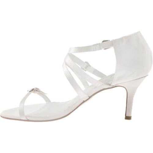 Women's Allure Bridals Locket Diamond White Silk Satin