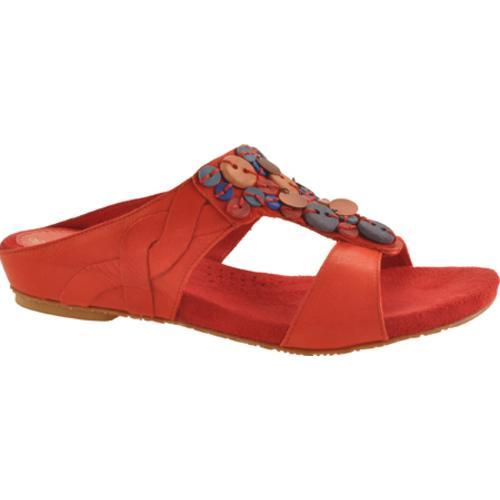 Women's Antia Shoes Coral Red Full Grain Waxy Light Leather