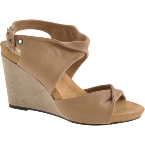 Women's Antia Shoes Geneva Taupe Full Grain Waxy Light Leather