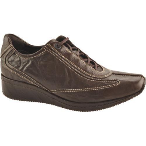 Women's Antia Shoes Grisele Mocha Veg Crunch Full Grain Leather
