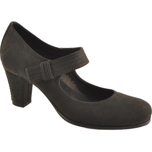 Women's Antia Shoes Maribel Black Calf Tumbled Nubuck