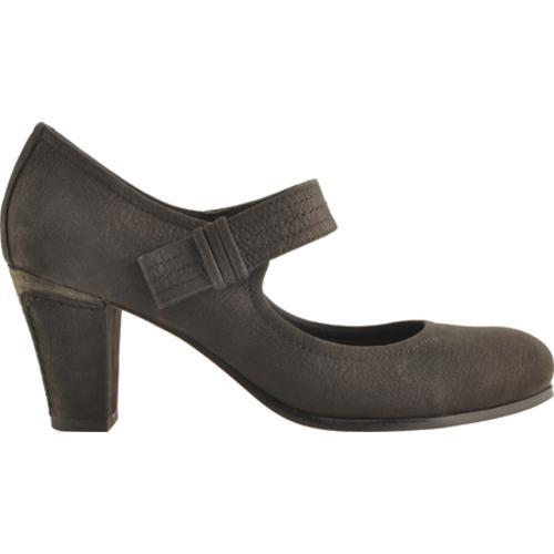 Women's Antia Shoes Maribel Black Calf Tumbled Nubuck - Thumbnail 1