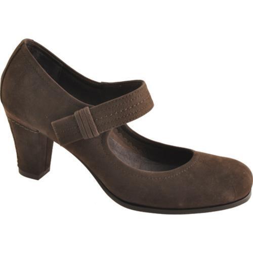 Women's Antia Shoes Maribel Mocha Calf Tumbled Nubuck