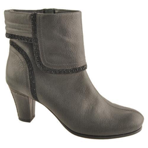 Women's Antia Shoes Marina Black Vintage Full Grain Embossed