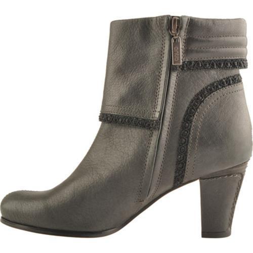 Women's Antia Shoes Marina Black Vintage Full Grain Embossed - Thumbnail 2