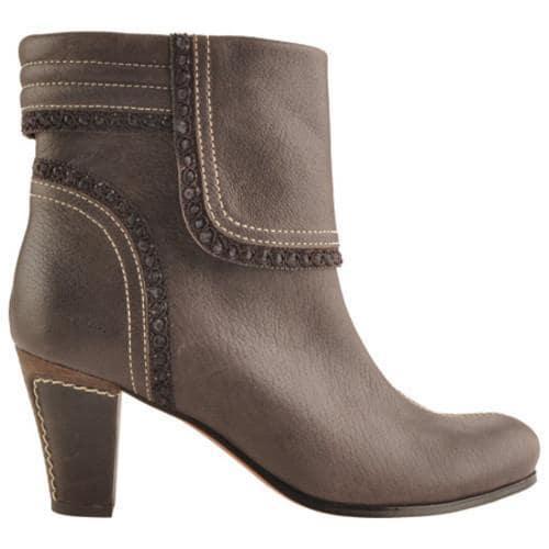 Women's Antia Shoes Marina Mocha Vintage Full Grain Embossed - Thumbnail 1